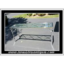 Modern Sofa Table by Vintage Mid Century Modern Glass And Chrome Sofa Table