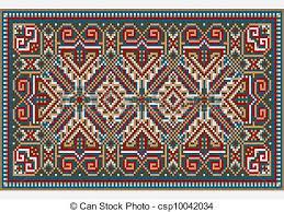 tappeto etnico disegno colori luminosi tappeto etnico immagine vettori