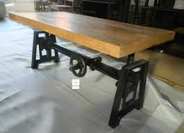 Industrial Dining Table Industrial Crank Dining Table Base Industrial Crank Dining Table