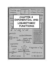 exponential log worksheet exponential and log functions
