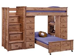 Wood Bunk Bed With Futon Bedding L Shaped Triple Bunk Bed L Shaped Bunk Beds
