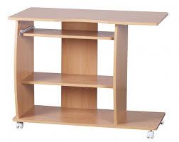 Schreibtisch Auf Rollen Finebuy Computertisch David 90 X 50 X 66 Cm Buche Modern Mit
