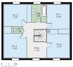 plan de maison a etage 5 chambres plan de maison 5 chambres modele maison plain pied chambres