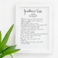 personalised wedding gift print by de fraine design london