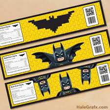 free printable lego batman water bottle labels lego batman super