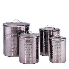 kitchen canisters set of 4 hammered 4 kitchen canister set reviews wayfair