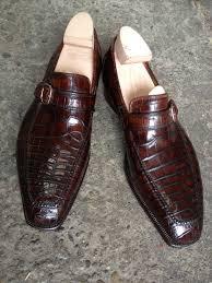 alligator slip on loafers handmade luxury italian leather shoes
