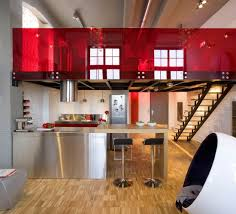 red modern kitchen contemporary kitchens with island decoholic