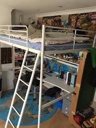 Ikea Tromso Double Loft Bed With Mattress Desk And Shelf In - Tromso bunk bed