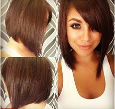 medium length hairstyles for black women with round faces trend