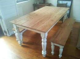 rustic dining table with bench pine table and pict ideas