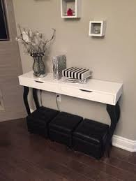 Vanity Ikea Hack Diy Ikea Hack Console Table Alex Shelf With Drawers And 4 Black