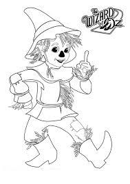 wizard oz scarecrow wizard oz coloring