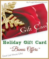 gift card offers gift card bonus offers great last minute gifts my