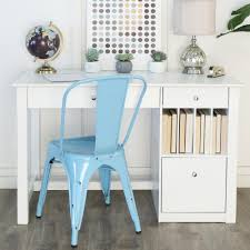 White Wooden Furniture Amazon Com White Wood Deluxe Storage Computer Desk Kitchen U0026 Dining