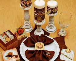 kitchen dining thanksgiving table decorations featuring