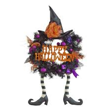happy halloween witch wreath christmas tree shops andthat