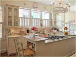 shabby chic painted kitchen cabinets with beadboard textured and