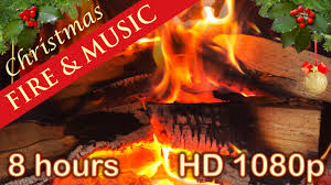 8 hours christmas music with fireplace christmas music
