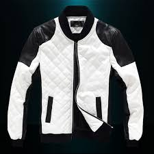 white motorcycle jacket l xxxxxl plus size quilted stand collar motorcycle leather jacket