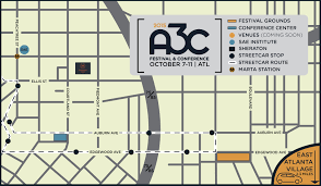 Atlanta Streetcar Map by 2015 A3c Festival U0026 Conference Map