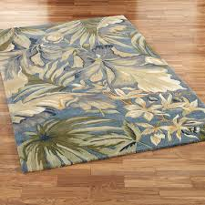 palm leaf round rug light brown trees or leaves floral wool carpet