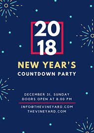 new year s countdown poster templates by canva