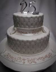 Hard Sugar Cake Decorations 3 Tier 25th Anniversary Cake Ideas Pictures Romantic 25th