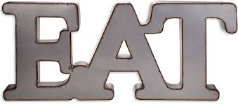 home essentials metal word wall art eat everything kitchens