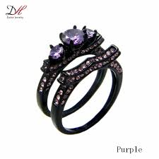 black and purple engagement rings pics of purple engagement rings ring ideas