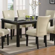 finish u0026 grey faux marble top modern 7pc dining set