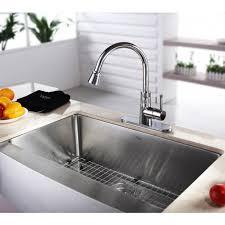 Single Undermount Kitchen Sink by Kraus Khf200 33 Kpf2220 Ksd30ch Stainless Steel 33 Inch Farmhouse