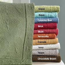 Colorful Coverlets Solid Color Quilted Coverlet From Linen Sources