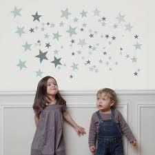 stickers étoile chambre bébé sticker mural étoiles grises