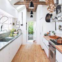Black Galley Kitchen - kitchen design and decoration using large round black galley