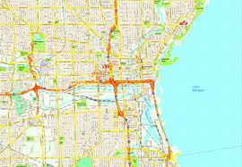 Map Of Milwaukee United Illustrator Eps City U0026 Country Maps Part 8