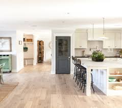 open floor plan kitchen dining area love the pantry door
