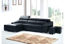 canape angle noir convertible canape angle noir canapac dangle droit relax aclectrique en cuir