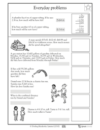 decimal word problems worksheets free worksheets library