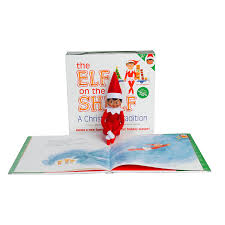 amazon com elf on the shelf a christmas tradition brown eyed
