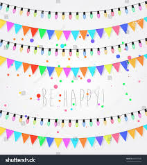 Happy New Year Decorative Flags by Birthday Holiday Festival Decoration Outdoor Christmas Stock