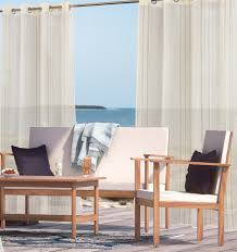 Sunbrella Curtains With Grommets by Curtains Hanging Outdoor Drapes Beautiful Outdoor Curtains