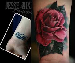 jesse rix tattoos tattoos realistic pink rose tattoo