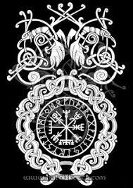 hulduköttr norse and germanic vegvisir and ravens t shirt