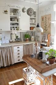 81 best kitchen islands images on pinterest kitchen home and look what s mine sewing table lace trimmed shelves wooden tray country french kitchens a charming collection the cottage market