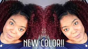 Coloring Natural African American Hair How To Dark Red Natural Hair Youtube