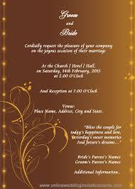 Marriage Invitation Card Editable Wedding Invitation Cards Free Pacq Co