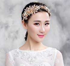 gold headpiece in stock 2015 gold olive branch wedding hair headpiece pearl