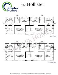 Fourplex Plans by Cornerstone Hollister Fourplex Modular Home