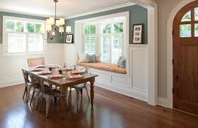 bay window molding ideas dining room traditional with light